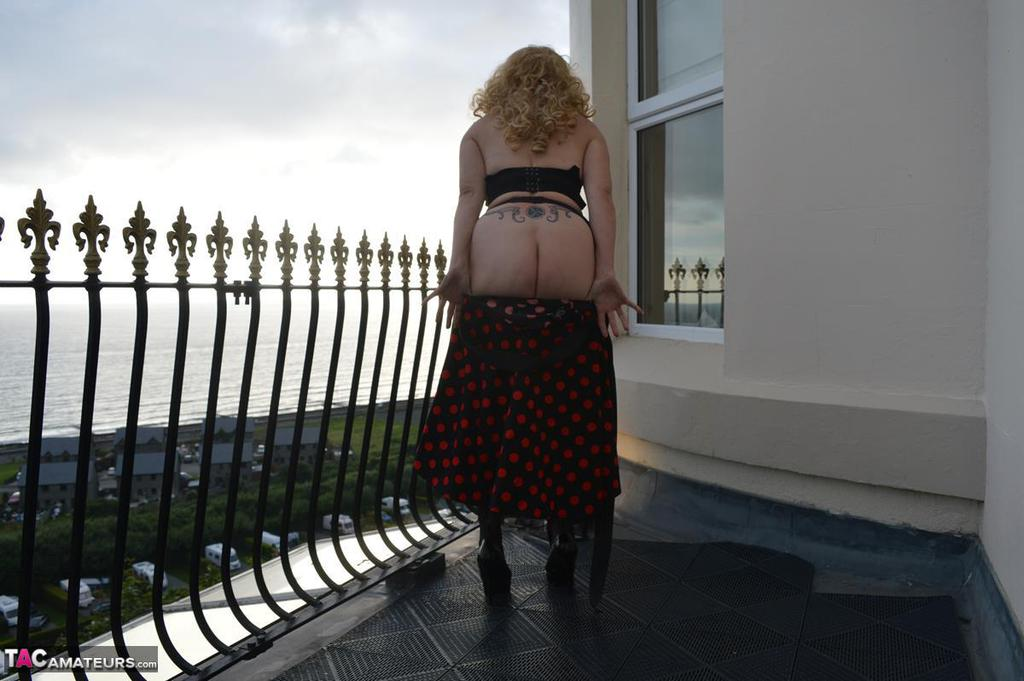 Barby's Balcony Undress