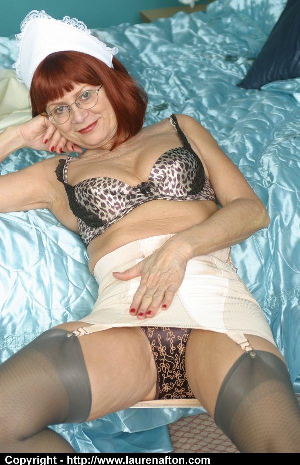 Nasty senior maid